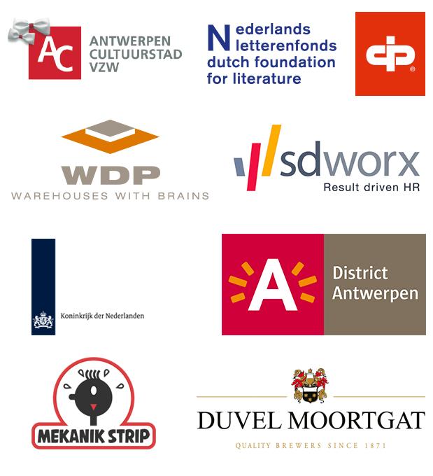 Sponsors van 'Muurvast' de stripmurenroute in Antwerpen